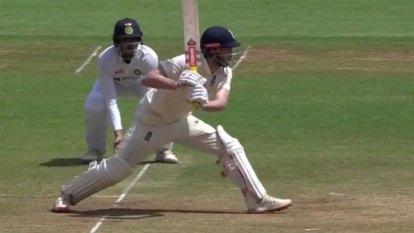 England opener's unlucky dismissal