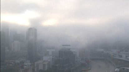 Melbourne blanketed by thick fog