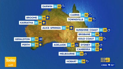 National weather forecast for Monday January 11