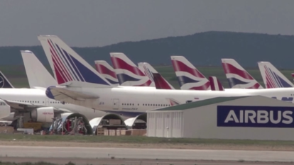 "Planes grounded by coronavirus park at Teruel's ""graveyard"" airport"