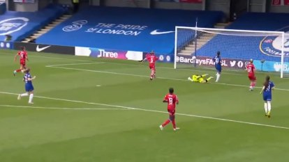 Aussie superstar Sam Kerr scored a goal as Chelsea beat Reading 5-0 to retain the English FA Women's Super League title.