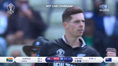 Santner gets Amla with a beauty