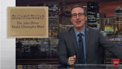 John Oliver 'quits' after Russell Crowe koala chlamydia prank