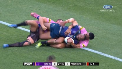 The Melbourne Storm take on the Penrith Panthers in the 2021 Preliminary Finals.