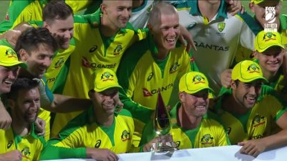 Matthew Wade's half-century was the cherry on top of a brilliant collective bowling display as Australia won by six wickets to claim victory in their tour of the West Indies.