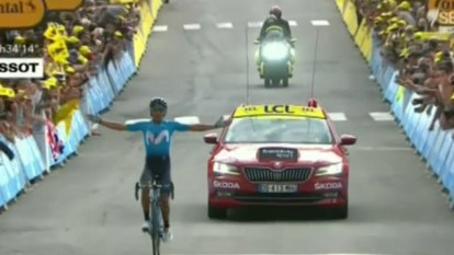 Alaphilippe retains yellow jersey after Alps climb