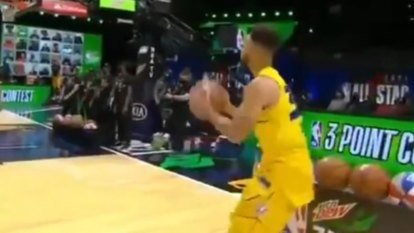 Stephen Curry comes up clutch in the NBA All-Star Three-Point Contest.