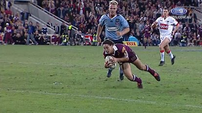 Billy Slater's try in game 2 of the 2004 series will go down as one of the greatest of all time.