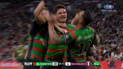 The South Sydney Rabbitohs take on the Manly Sea Eagles in the 2021 Preliminary Finals.