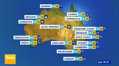 National weather forecast for Sunday, September 20