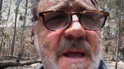 Russell Crowe's property 'smashed' by bushfires