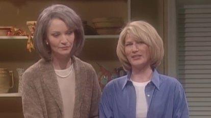 Martha Stewart impersonated by Ana Gasteyer on Saturday Night Live