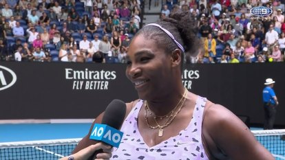 Former Australian Open champion Serena Williams speaks about the bushfire crisis.