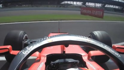 Vettel spins at turn one