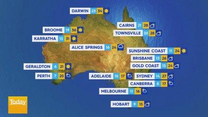 National Weather forecast for Friday September 18