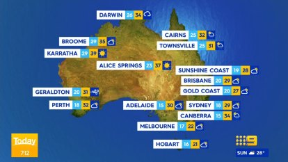 National weather forecast for Tuesday January 12