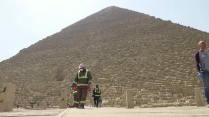 Egypt disinfects ancient pyramids