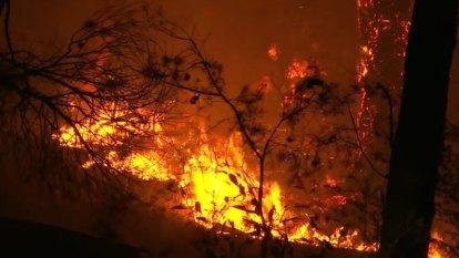 NSW bushfire battle