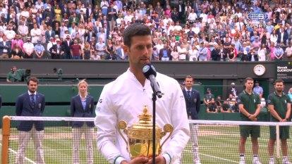 Djokovic speaks after Wimbledon triumph