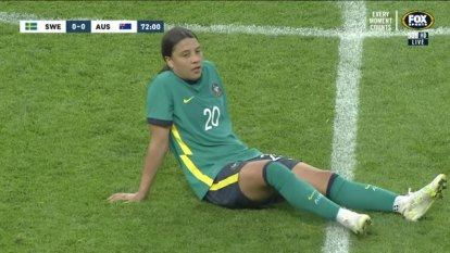 The Matildas are one month away from the Olympics and played out a goalless draw with Sweden, however concerns loom over the severity of an injury to Sam Kerr.