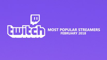 February's most watched Twitch streamers