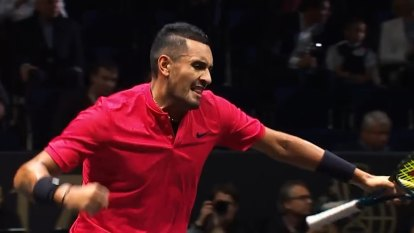 Kyrgios speaks on his Laver Cup loss to Federer