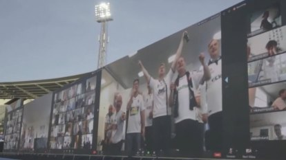 Instead of cardboard cutouts of fans in the stands, a team in Denmark has used videos of cheering supporters.