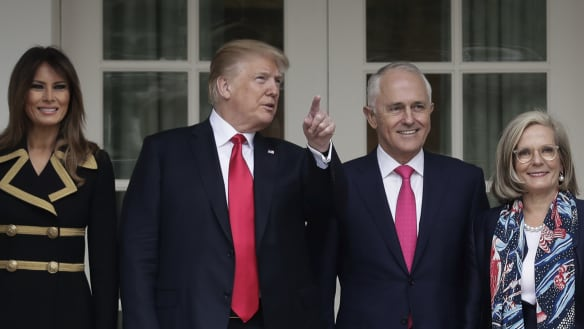 'Terrific relationship': Trump and Turnbull meet on trade, military