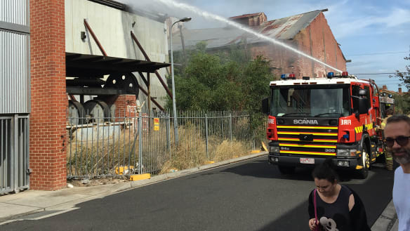 Residents evacuated after fire at Brunswick Brickworks