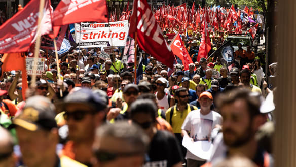 Why Sydney's union rally crowds are 15 times smaller than those in Melbourne