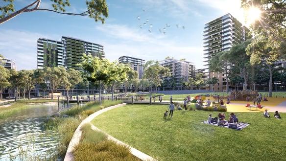Apartments begin rising from Ermington putt putt site