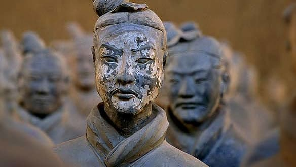 The man who ripped the thumb off a priceless Chinese terracotta warrior