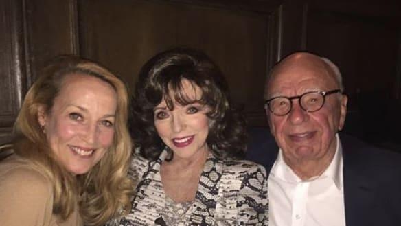 Joggers and Joan: Rupert Murdoch's low-key comeback