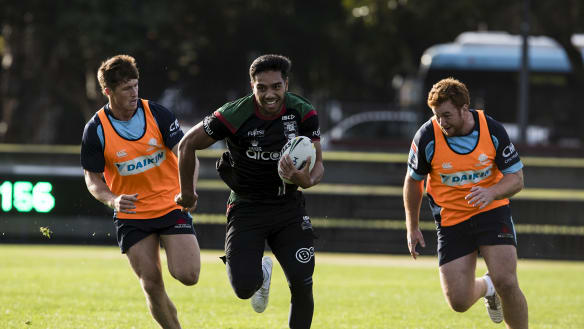 Waratahs cop 'battering' in opposed training session with Rabbitohs