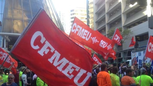 'I'm not dealing with a f-----g pen pusher': CFMEU officials refuse to show entry permits