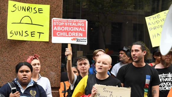 Activists swamp Sunrise windows to protest Aboriginal adoption segment