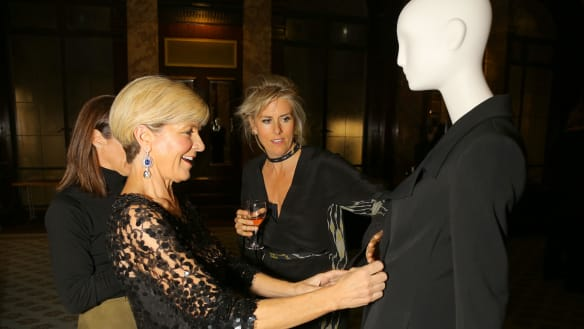 Julie Bishop meets her fashion equivalent Kit Willow in London
