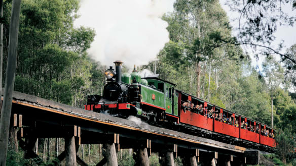 Puffing Billy bans leg dangling as probe begins into minibus collision