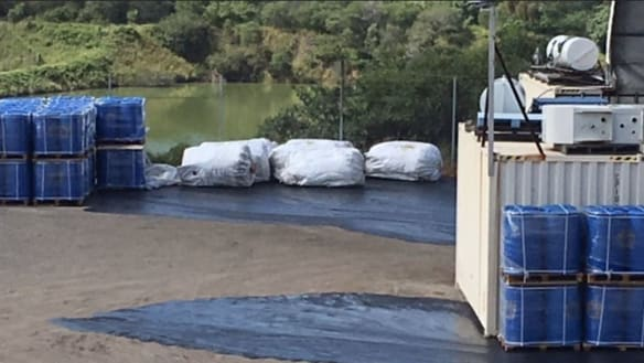Environment department investigates potential chemical spill at super dump site