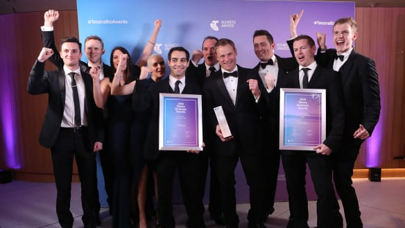 Company that transforms helicopters flies high at business awards
