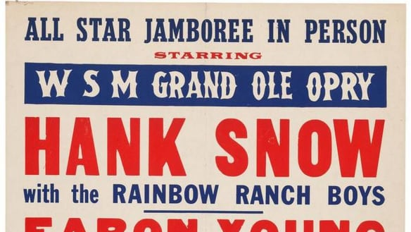 Early Elvis show poster rocks auction room for $55k
