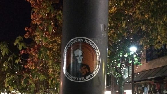 Stickers linked to Australian neo-Nazi group found in Canberra