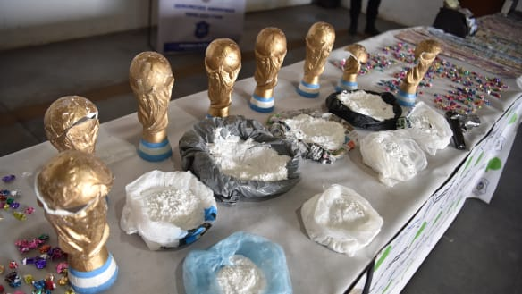 Drug gang caught offside by Argentina police in smuggling operation
