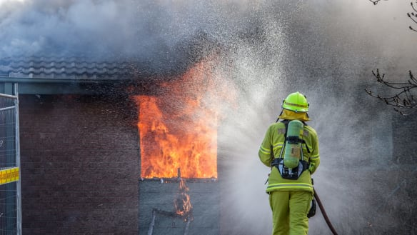 ACT firefighters burn down a house