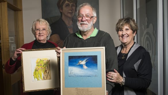 May Gibbs painting found in a shed makes a special trip to Canberra