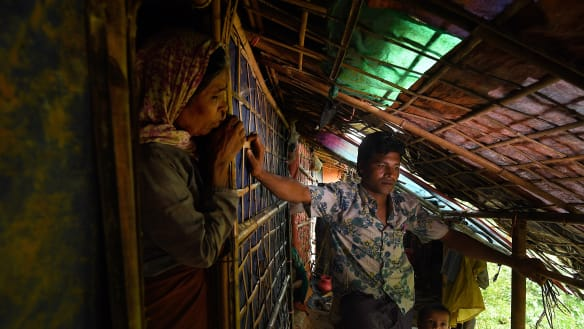 Living on the edge, the Rohingya cling to muddy ground