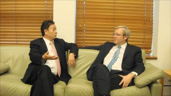 Kevin Rudd quietly met Chau Chak Wing in China