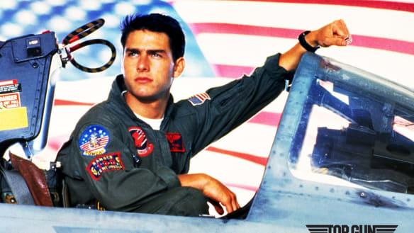 Tom Cruise in Top Gun.