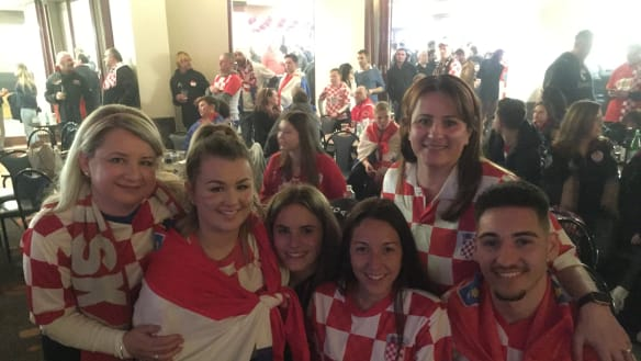 Flares, beers and tears! World Cup final at the Canberra Croatian Club