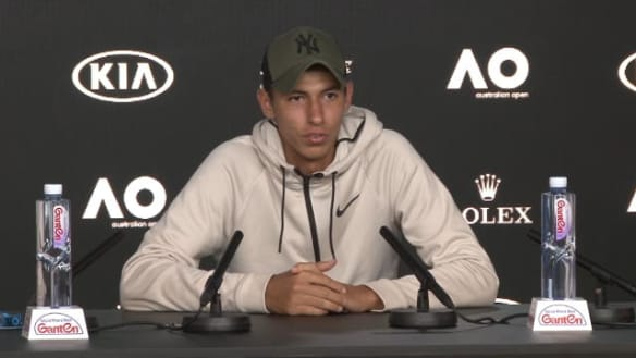 Young Aussie Alexei Popyrin can't quite believe he's made the third round of the Australian Open.